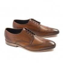 Ikon Mens Howard Smart Brogue Shoes - Spice Tan