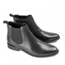 Ikon Jerry Men's Slip On Chelsea Boots - Black