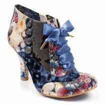 Irregular Choice Blair Elfglow High Heel Shoe Boot - Blue Metallic