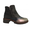 Wonders E-5606 Wonders Grey Navy and Black Mix Ankle Boot