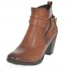 Susst Ellen Tan Ankle Block Heel Boot