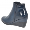 Susst Blake Navy Combi Wedge Heeled Ankle Boots