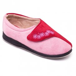 Padders Womens Hug Slippers - 424 - Pink / Red