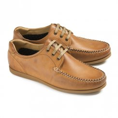 Ikon Mens Chester Leather Shoes - 4077 - Tan