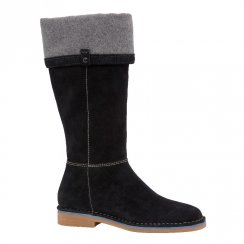 Hush Puppies Cerise Catelyn Suede Boots - Black HW05487