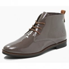 Bugatti V5131-9K Grey Patent Ankle Boot