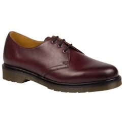 Dr Martens 1461 Leather Flats - Cherry Red-21153600