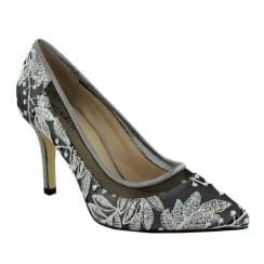Menbur Pearl/Grey Pointed Court Heels - 06687X