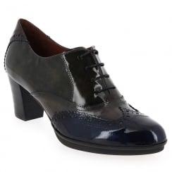 CHI60585 - Hispanitas Grey Navy Heel Brogue