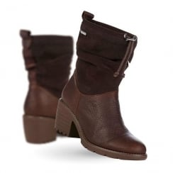 Emu Cooma Suede Leather Womens Boots - Brown