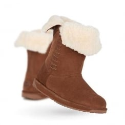 Emu Sandy Bay Fold-Over Suede Womens Boots - Oak - W11247