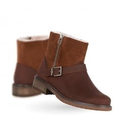 Emu Roadside Suede Leather Womens Boots - Oak - W11296