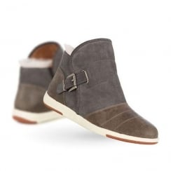 Emu Bardo Suede Womens Ankle Boots - Charcoal - W11338