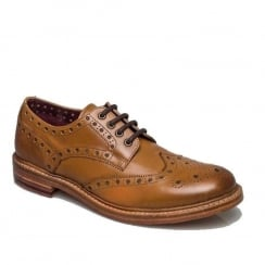 London Brogues Mens Brunswick Derby Shoes - Tan