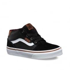 Vans Kids Mixed Chapman Mid Sneakers Shoes - Black - XSSK75