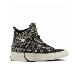 All Star Womens Selene Winter Knit Shoes - Black - 553355C