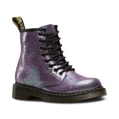 Dr Martens Delaney Sparkle Juniors Girls Boots - Purple - 21559500