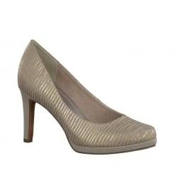Marco Tozzi Dune Court High Heels - Crem/Gold
