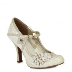 Ruby Shoo Yasmin - Ladies Heels - Cream - 09088