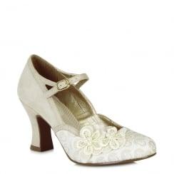 Ruby Shoo Amelia - Ladies Heels - Cream - 09089