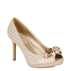 Ruby Shoo Sonia - Ladies Heels - Rose/Gold - 09092