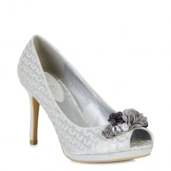 Ruby Shoo Sonia - Ladies Heels - Silver - 09092