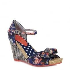 Ruby Shoo Molly - Ladies Heeled Sandals - Floral - 09093