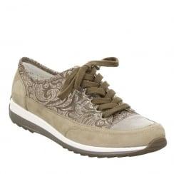 Ara Hampton Womens Lace Up Shoes - Taupe