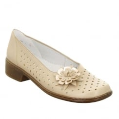 Jenny Ara Zaros Womens Block Heel Shoes - Cream