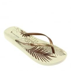 Lunar Women's Foliage Flip Flop Sandal - Bronze