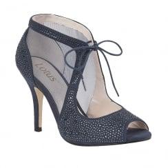 Lotus Vanille Mesh Diamante Shoes - Navy - 50719