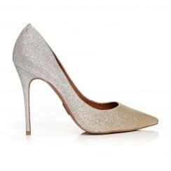 Moda in Pelle CRISTINA Champagne Glitter Ombre Court Shoe