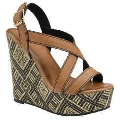 Dolcis Patrice Wedge Sandal - Tan
