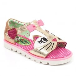 Irregular Choice Girls Kitty Pink Sandals