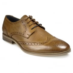 Pod Mens Tulsa Cognac Lace Up Brogues