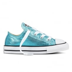 Chuck Taylor All Star Metallic Infant Blue Trainers