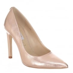 Amy Huberman Love Rose Gold Leather Pointed High Heels