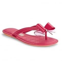 Grendha Sense Thong Pink Bow Flip Flops Sandals