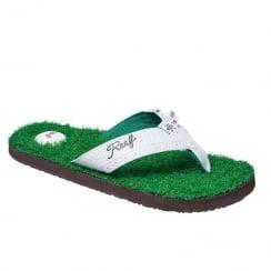 Reef Mens Mulligan II Golf Inspired Green Flip Flops