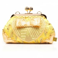 Irregular Choice Hoppity Yellow Oversize Bow Bag