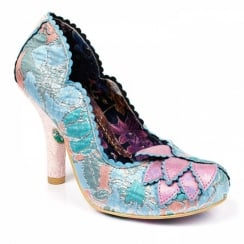 Irregular Choice Silver Linings Pink Blue High Heels