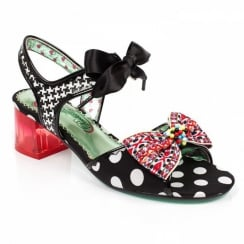 Irregular Choice Poetic Licence Easy To Love Heeled Black Sandals