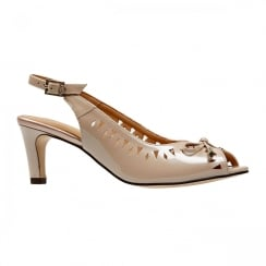 Van Dal Surry Powder Pearlised Patent Slingback Sandals