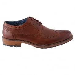 Morgan&Co Tan Leather Smart Mens Brogue