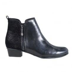Regarde Le Ciel Womens Black Leather Stefany Ankle Boots