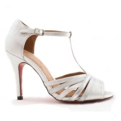 Kate Appleby Savoy Silver Open Toe T-Bar Sandal