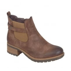 Rieker Womens Brown Newa Ankle Flat Boots