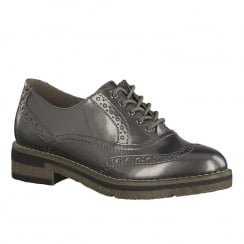 Tamaris Womens Platinum Derby Shoes - 23616