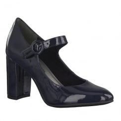 Tamaris Womens Navy/Blue Patent Court Heels - 24413