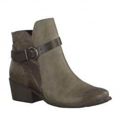 Marco Tozzi Tobacco Cowboy Style Ankle Boot